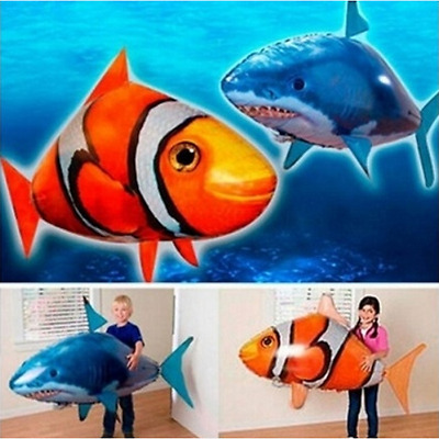 NEW Air Swimmer-Flying Nemo Shark Blimp Toy-Remote Control RC Inflatable Balloon