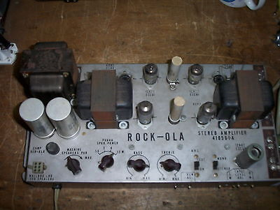 Rock-Ola 429 & 434 Stereo Amplifier Re-Build Service