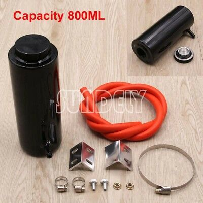 800ml Black Overflow Catch Tank Radiator Coolant Expansion Tank Bottle Header AU