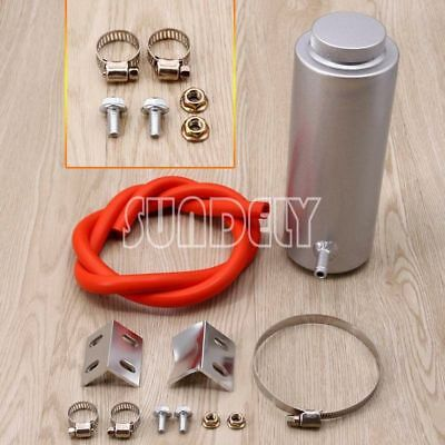 0.8L Overflow Catch Tank Radiator Coolant Tank Bottle Header kit Aluminum Silver