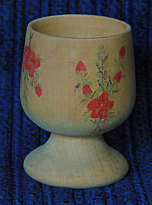 Egg Cup - Wooden Floral - 0560