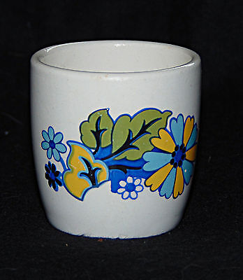 Egg Cup -  Bright blue, green & yellow bucket - 0501