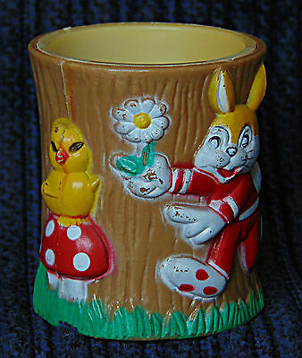 Egg Cup - Easter Bunny and Chick - 0580