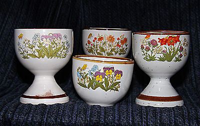 Egg Cup - Four Spring Flowers - 0339