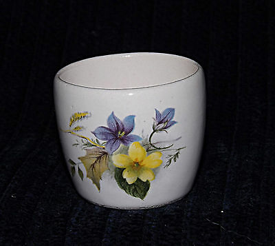 Egg Cup -  Blue & Yellow Violets - 0392