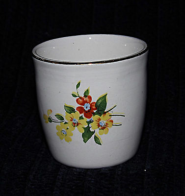 Egg Cup -  Yellow & Red Flowers - 0402