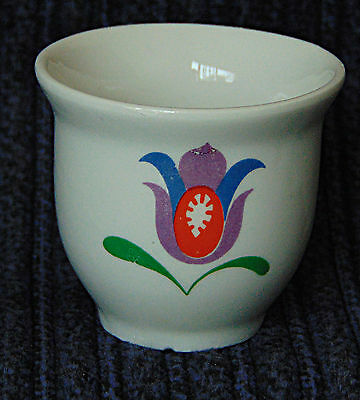 Egg Cup - Brightly coloured Floral bucket - 0544