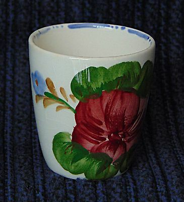 Egg Cup - Heavily patterned Red Rose - 0536