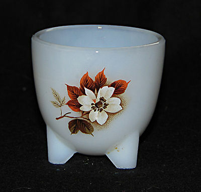 Egg Cup -  Glass 'Cauldron' cup with bright Autumn flowers  - 0507
