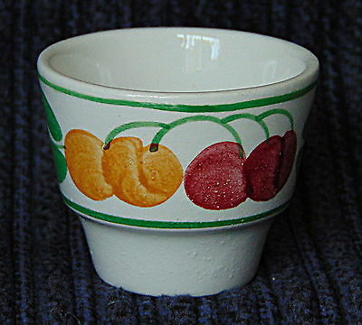 Egg Cup - Yellow & Red Cherries - 0582