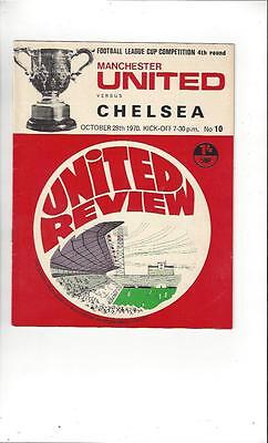 Manchester United v Chelsea League Cup 1970/71 Football Programme