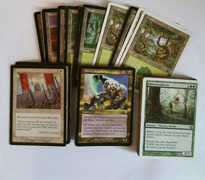 Magic the Gathering - MtG - 60 Karten Deck - Grün - Weiß - Versch. Editionen