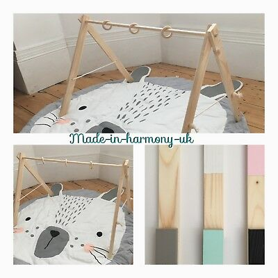 Wooden Handmade Scandinavian Style Baby Gym - FRAME ONLY- Colours To Choose
