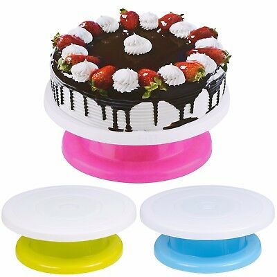 28cm Rotating Cake Decorating Revolving Icing Kitchen Display Turnable Stand