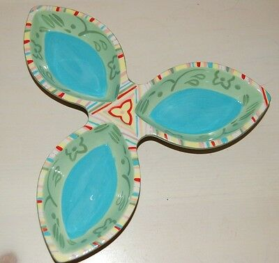 Partylite FIESTA ceramic glazed candle plate