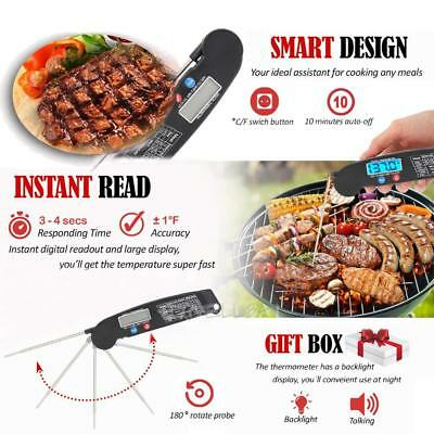 Digital LCD Küchenthermometer BBQ Grill Thermometer Bratenthermometer Fühler LP