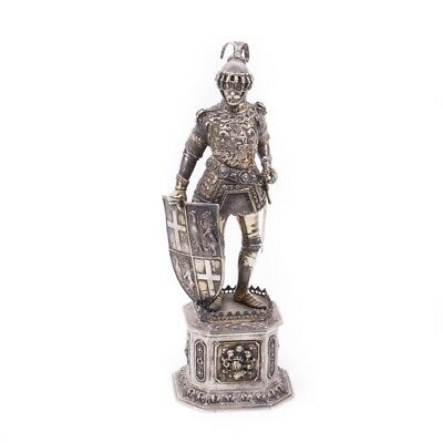 Antique Sterling Silver Knight Figure
