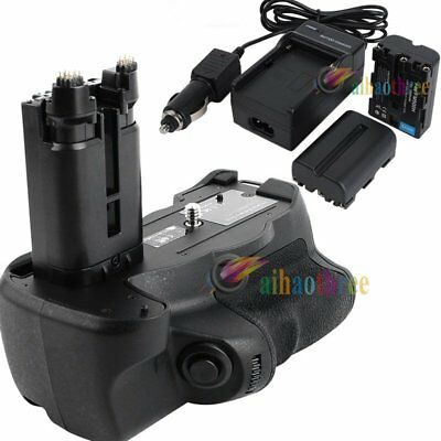 Vertical Battery Grip + NP-FM500H Battery For Sony A77 SLT-A77V A77II A99II