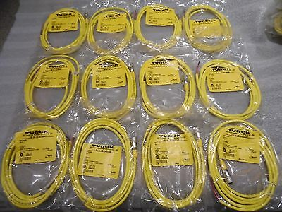 TURCK  KB 4T-2 Single End Cordset Straight Female Micro AC  U2473 New Lot of 12