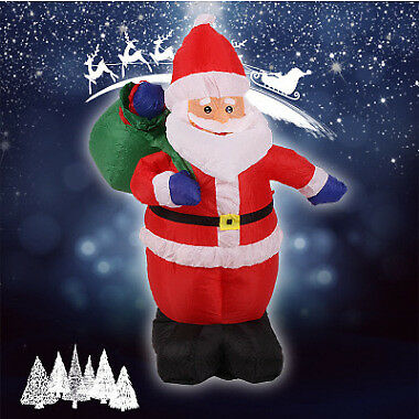 1.2m Inflatable Christmas Santa Claus & Charger with Adapter Outdoor Decoration