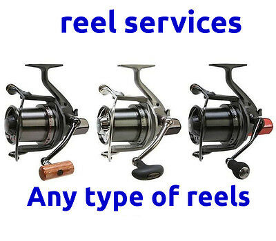 Reel servicing including return DELIVERY - 1 to 6 REELS -Trafford Tackle Repairs