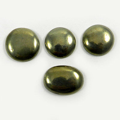 4Pcs Natural Copper Pyrite Oval Round Gemstone Making Mother Day Jewelry MC2107