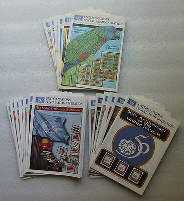 United Nations stamp bulletins, 1971 to 1997 apx. 160