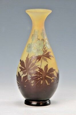 Emile Galle  Original Amazing  Vase France 1910s, Decor