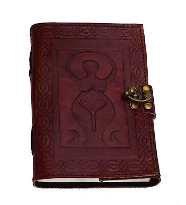 Mother Earth Leather Notebook journal diary NEW PAPER ART Cotton Handmade India