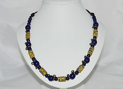 Vintage Jewellery Trade Beads Fabulous Necklace Of Mixed Trade Beads
