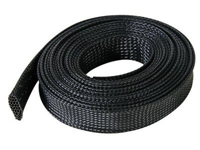 Black Braided Sleeving/Sheating - Auto Marine Cable Wiring Harness Protection