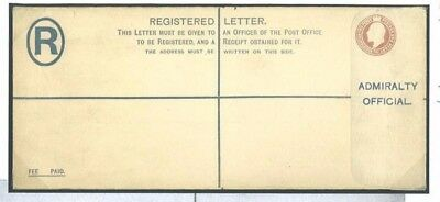 1903.3 GB Admiralty Official Postal Stationery Registered Envelope Embossed
