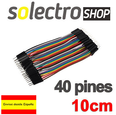 40x CABLES Macho Macho 10cm jumpers dupont 2,54 arduino protoboard K0107