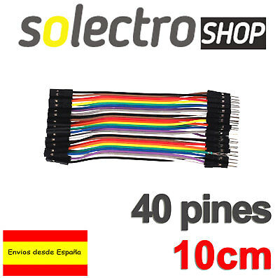 40x CABLES Hembra Macho 10cm jumpers dupont arduino protoboard K0106