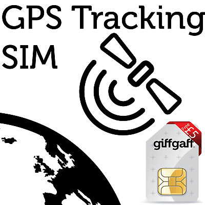2G Sim Card For GPS Tracking Device, GSM vehicle child personal Pet PAYG £5 FREE