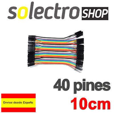 40x CABLES Hembra Hembra 10cm jumpers dupont 2,54 arduino protoboard K0105
