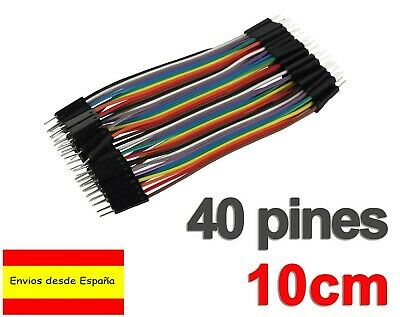 40x CABLES Macho Macho 10cm jumpers dupont arduino protoboard Male-Male K0107