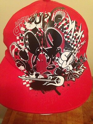 Disney Parks Mickey Mouse Hat Lead Singer Band Music Rock Out Adult Size