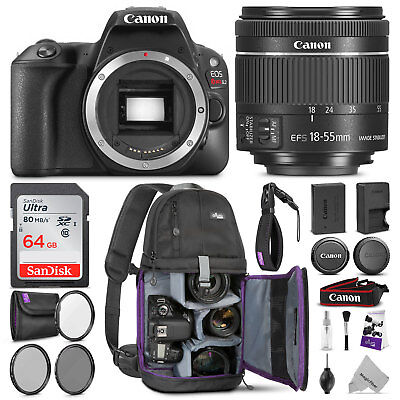 Canon EOS Rebel SL2 DSLR Camera with 18-55mm Lens 2249C002 w/ Accessories Bundle