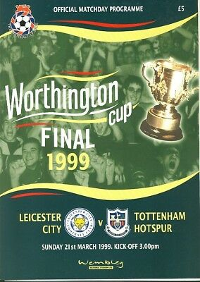 LEAGUE CUP FINAL PROGRAMME 1999: Tottenham v Leicester