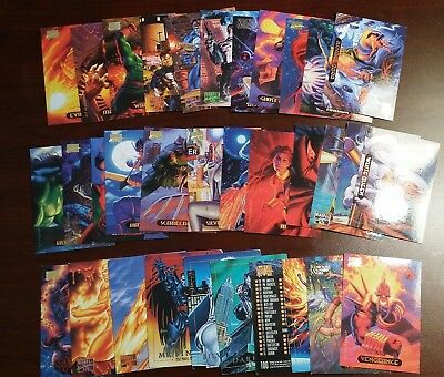33 Marvel Masterpiece Skybox 1992 Trading Cards - Excellent Condition
