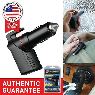 Black Stinger Plus: 3 in 1 USB Emergency Escape EDC Life-Saving Car Charger