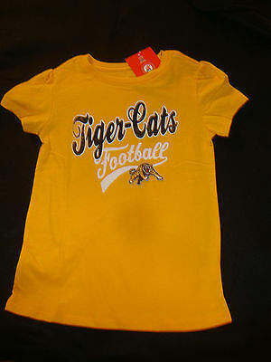 HAMILTON TIGER CATS   CFL TODDLER GIRLS GRAPHIC TEE SHIRT NWTS size 18-24 months