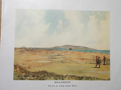 Golf Course Print DOLLYMOUNT Facsimile Of Original 1910 Book Plate Painting