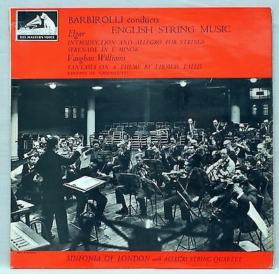 Barbirolli Conducts English String Music Classical Vinyl LP HMV ASD 521 EX/EX-