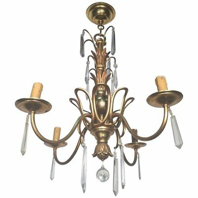 French Bronze And Crystal Chandelier, Maison Baguès