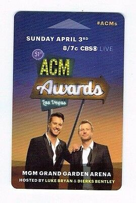 LUKE BRYAN /DIERKS BENTLEY ACM Country MGM GRAND Las Vegas Room Key ~ FREE SHIP