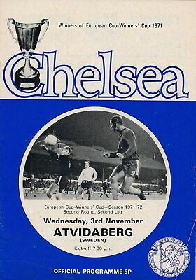 CHELSEA v Atvidaberg (Cup Winners Cup) 1971/2