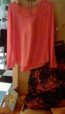 Ladies CUTE SKIRT& Peach BLOUSE! Combo Only 4.99 pp S-Med. B-L Complete Outfit!