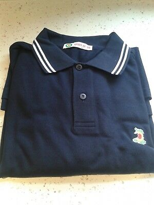 Wales football Spirit of 58 long sleeved polo shirt BNWT LARGE NAVY
